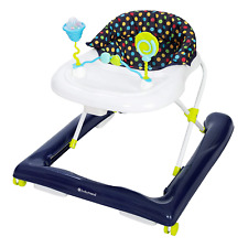 Baby Walker Activity Chair With Wheels Toys And Tray Padded Seat Blue