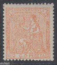 ALEGORIA DE ESPAÑA - * 131 - 2 c. naranja - AÑO 1873 - NUEVO GOMA ORIGINAL