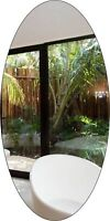 Oval Shaped Shatterproof  Acrylic Mirror for Bathroom,rooms, indoor and outdoor