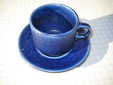 Tasse und Untertasse Ocean Blue Langenthal Schweiz   60s Keramik Höhe: 6cm