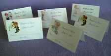 100 Personalized Custom IVORY Bridal Wedding Place Cards 80 Graphics