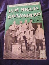 Partition Luis Miguel de J.Verschueren Granadero de V.Marceau El Pablos de Muren