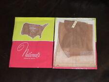 1Pr Vint Late 1950s National's Full Fashioned Nylon Stockings Sz11x35 Neut.Beige