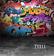 10x10FT Graffiti vinyl photography Background Backdrop studio Photo prop TY111