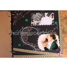 Self-Adhesive Photo Albums Ring Binder DIY Scrapbook Travels Note Purple