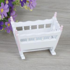 1:12 Mobili per la camera da letto a dondolo in miniatura per culla della ZZIT