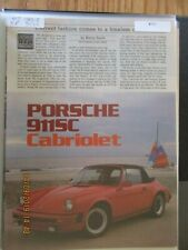 Porsche Articles & Road Tests Group #16 1983 & 1983 Models Choice of 1 of 10