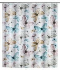 "WENKO ""butterfly Shower Curtain Multi-coloured 180 X 200 X 1 Cm"