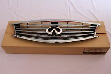 Infiniti G37 G25 Q40 2010-15 Front Radiator Grille Emblem Chrome OEM 62310-1NF1A