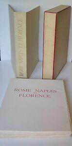 ROME NAPLES ET FLORENCE DE STENDHAL ED G. RAOULT ILLUS. CP JOSSO EX NUM SUITE