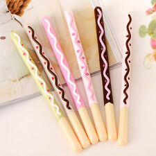 1PC Lively Chocolate Bar Rollerball Biscuit Gel Pen School Student Office Supply