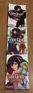Code Geass: Lelouch of the Rebellion English Manga Volumes 1,2,3 (1-3) RARE
