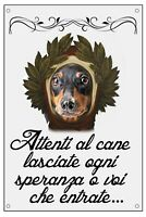 BASSOTTO DANTE ALIGHIERI TARGA METALLO CARTELLO IDEA REGALO CANE