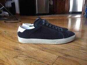 Saint Laurent Men's Suede Sneakers Sz 42 EU/9 US Charcoal Italy
