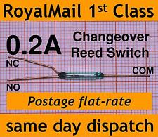 Reed Switch Changeover (SPDT) 0.2A change over mini reedswitch XGH-2Z small