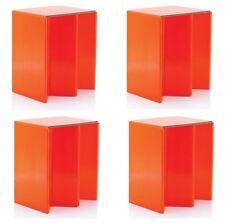Lot de 4 Pliable en Carton Portable Siège Chaises Orange