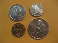 Monkey coin set,  4 coins all are uncirculated, nice starter set,  animal coin