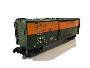 1998 K-LINE ELECTRIC TRAINS-GREAT NORTHERN G.N. 39398 BOX CAR- O-SCALE EXCELLENT