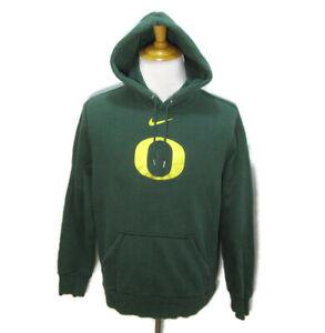 OREGON DUCKS Mens (Size Large) Green NIKE Hoodie Hooded Sweatshirt Athletic Top