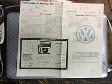 VW volkswagen 1987 VANAGON GL Original VW dealer window sticker OEM