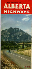 1952 Official Road Map of Alberta from the Department of Highways