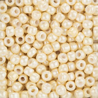 Toho Round Size 3/0 Seed Beads Opaque Luster Light Beige 19.5g Tube (L97/4)