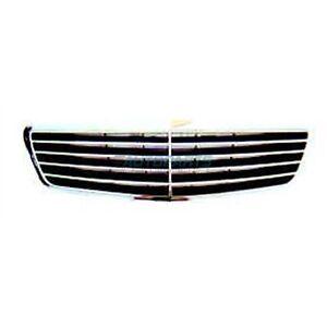 New Grille Black Chrome Fits 2000-2002 Mercedes-Benz S430 Sedan MB1200115