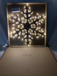 "Restoration Hardware Snowflake 24"" Starry Light Hexagon Winter Holiday New"