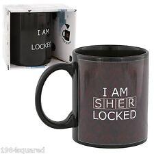 Sherlock Holmes Mug I Am Sherlocked Heat Reveal Rose Coffee Cup BBC New Mint MIB