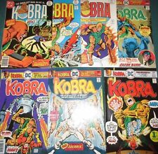 KOBRA #1-7 Full Set! DC 1976 Two Brothers One Good & One Evil - Cool Series!