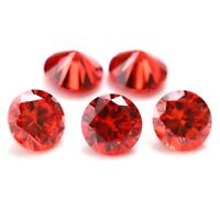 Wholesale Lot 7mm Round Top Grade Red CZ Cubic Zirconia Loose Calibrated Gems
