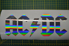 STICKER AC DC HOLOGRAPHIQUE   9,5X26CM
