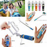 Selfie Stick Monopod Small Portable Pocket Size Wired Holder for Mobile Phones