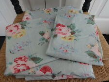 RALPH LAUREN Seaside Cottage Lane Queen Flat Sheet + 2 King Pillowcases Floral