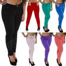 Unbranded Coloured Mid Rise Plus Size Jeans for Women