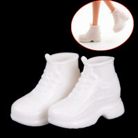 10 Pairs White  Doll Sneakers Shoes Dolls Accessories Gift Es