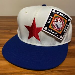 Detroit Stars Hat Baseball Cap Fitted 7 1/2 NBL Negro League Men Vintage 80s USA