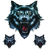 3x Wolfskopf Wolf Aufkleber Sticker Auto Motorrad Decal Dekor Tuning Die Cut Set