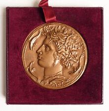 Médaille en bronze Construction Electrique 1971 mythologie grec
