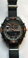 U.S. Polo Assn. Sport Men's US9059 Analog-Digital Watch with Nato Strap A4