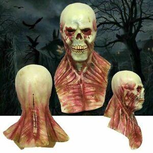 Halloween Scary Devil Zombie Latex Mask Horror Monster Full Face Cosplay Mask UK