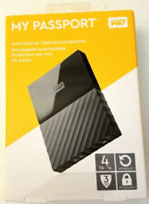 WD My Passport 4TB External USB 3.0 Portable Hard Drive - BLACK. NEW MODEL !