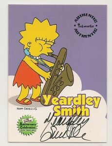 Simpsons Anniversary Celebration autograph card A3 Yeardley Smith