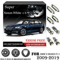 20PCS For BMW F11 5 Series 09-19 Xenon White Car Interior LED Light Package Kit