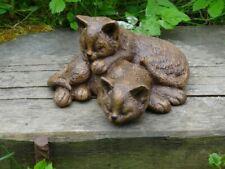 Steinfigur Tierfigur Katzenpaar Katze Garten Katzen