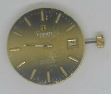 Vintage TISSOT SEASTAR Movement & Dial. Cal: 2481. For Parts Or Repairs