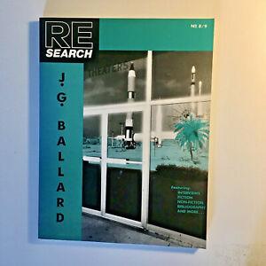 RE/SEARCH #8/9: J. G. Ballard 5th printing