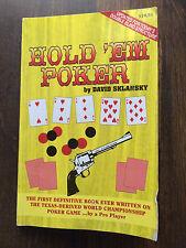 Hold 'em Poker : 1997 Edition by David Sklansky (1996, Paperback) #4931