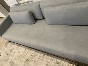 Restoration Hardware Italia Shelter Arm Sofa - Nickel