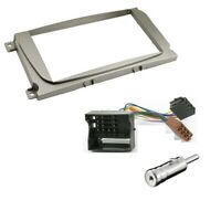 CD RADIO STEREO DOUBLE DIN FACIA FASCIA PLATE ADAPTOR PANEL KIT SILVER FITS FORD